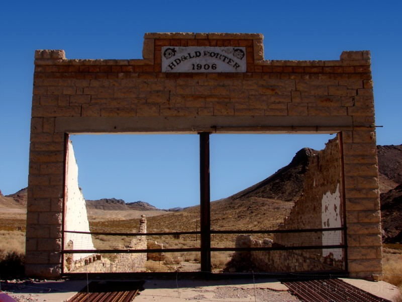What's left of Rhyolite, Nevada?
