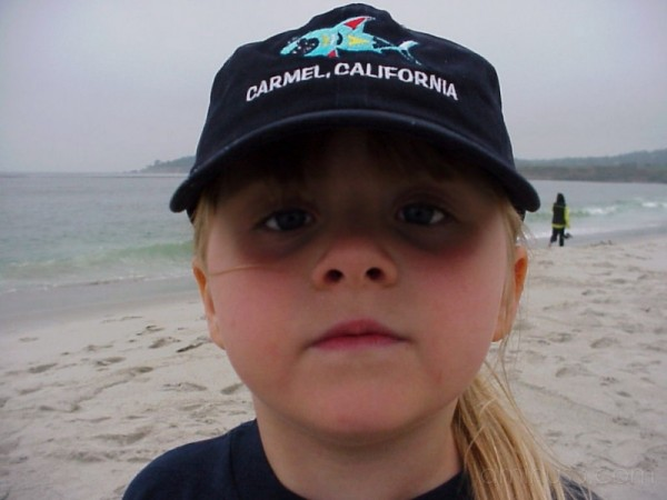 My Granddaughter at Carmel Beach, California
