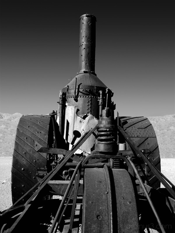 Steam Engine at Furnace Creek - Death Valley,