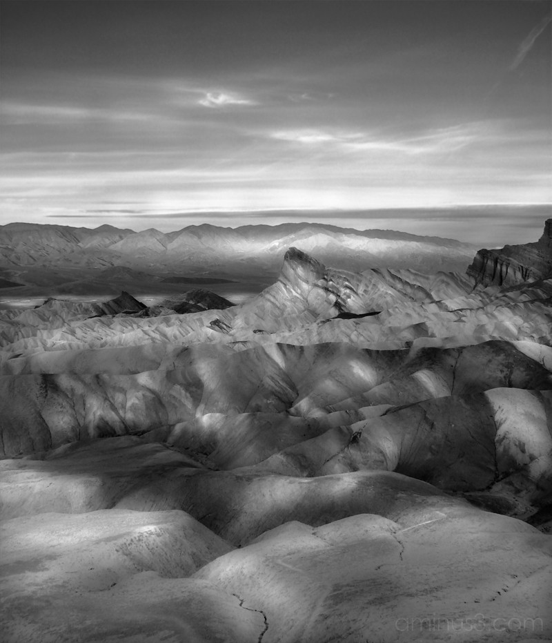 Sunrise looking West at Zabriskie Point