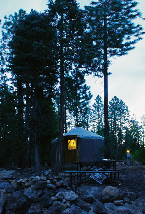 Yurt at Hat Creek Rancheria