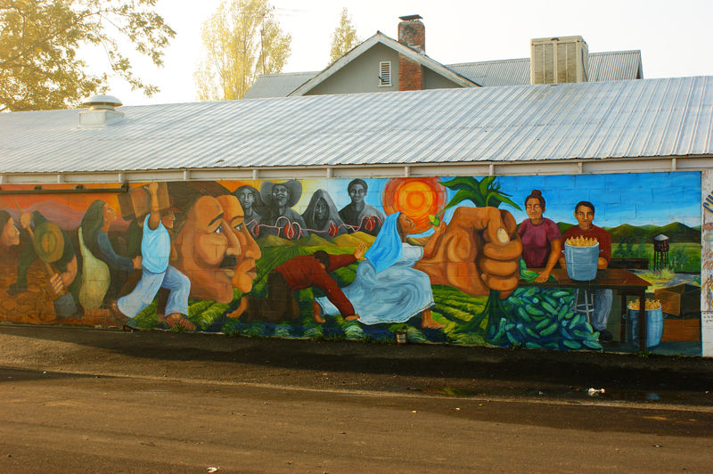 Mural at Chepo's Tamales, Elmira, CA