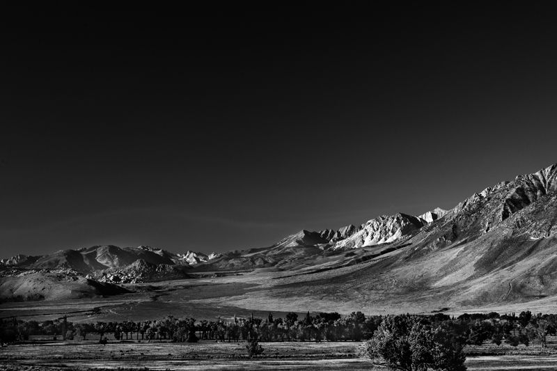 Sierra Nevada Mountains from Owens Valley