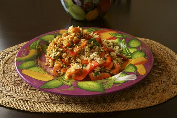 Hot Rice Salad