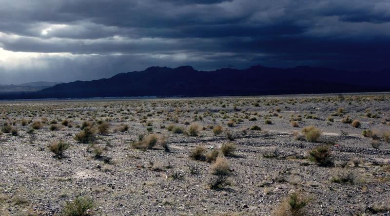 Ominous Skies Over the Desert