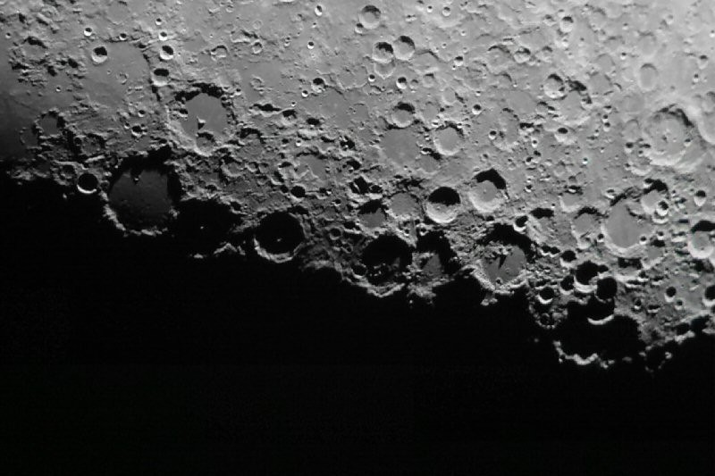 Along the lunar terminator