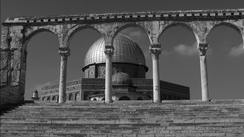 the Dome and the Temple Mount