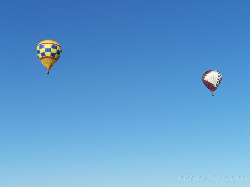 One of two balloons that flew over Mooresville Dra