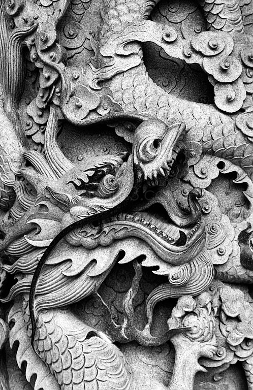 Chinese Dragon at Po Lin Temple