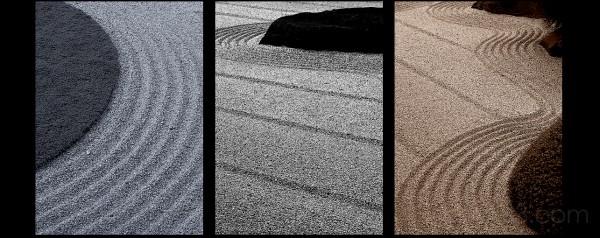 Rock Garden Triptych