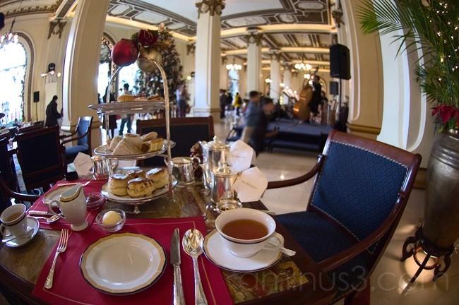 Hight tea at the Peninsula Hotel in Hong Kong.