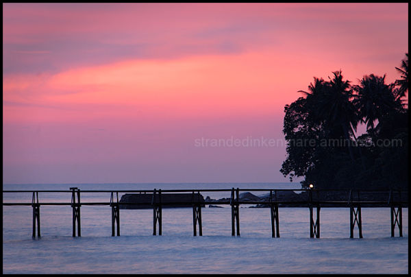 Jetty at Sunset II - Tioman, Malaysia
