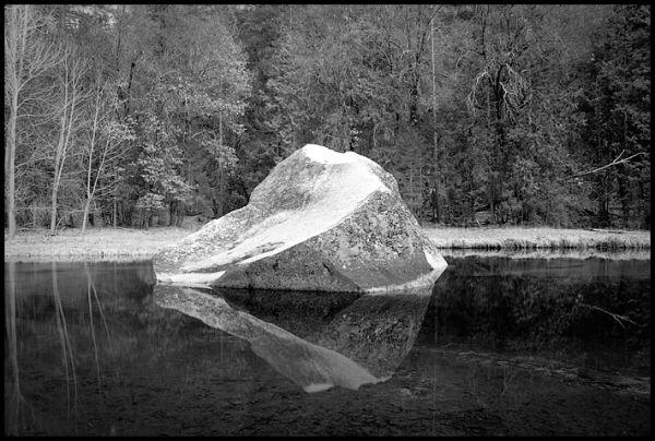 Boulder at Mirror Lake, Yosemite NP
