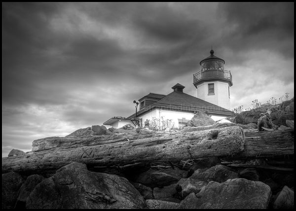 Storm Brewing Over Alki Point Lighthouse