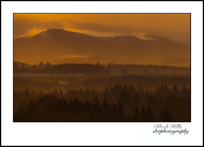 Hazy Sunrise over the Black Hills