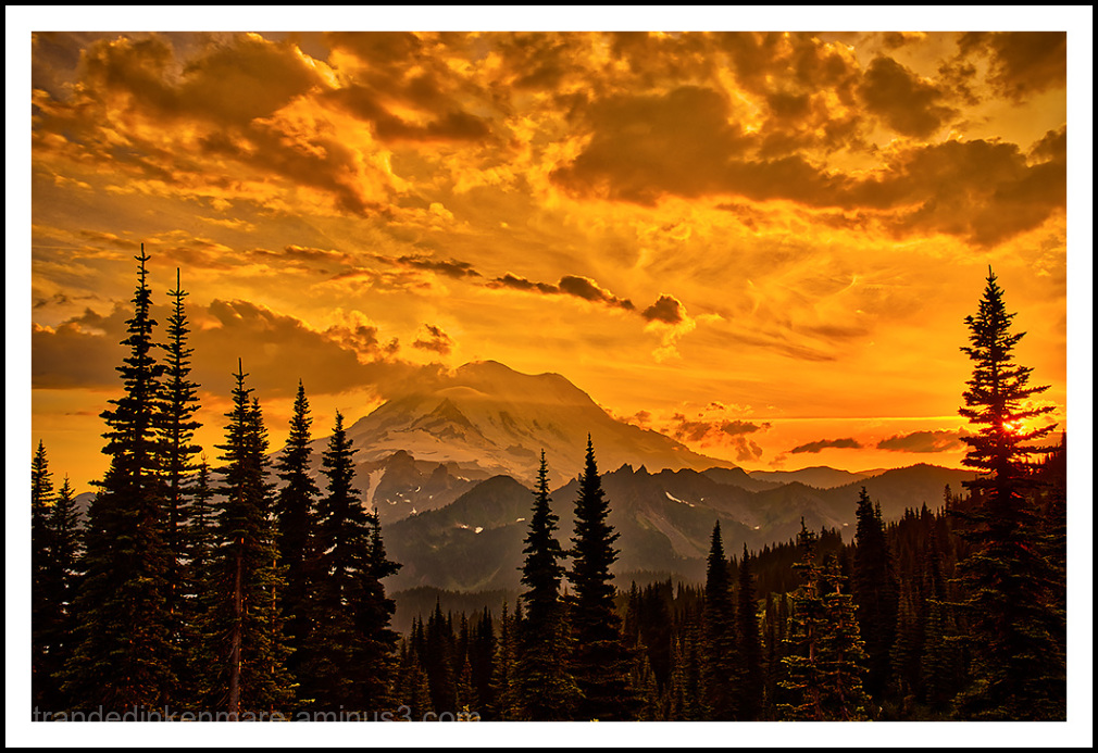 Naches Sunset – Mount Rainier, August 2018