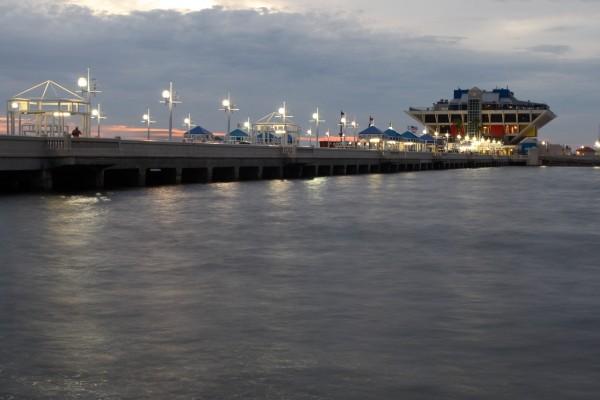 St. Petersburg Pier at sunrise
