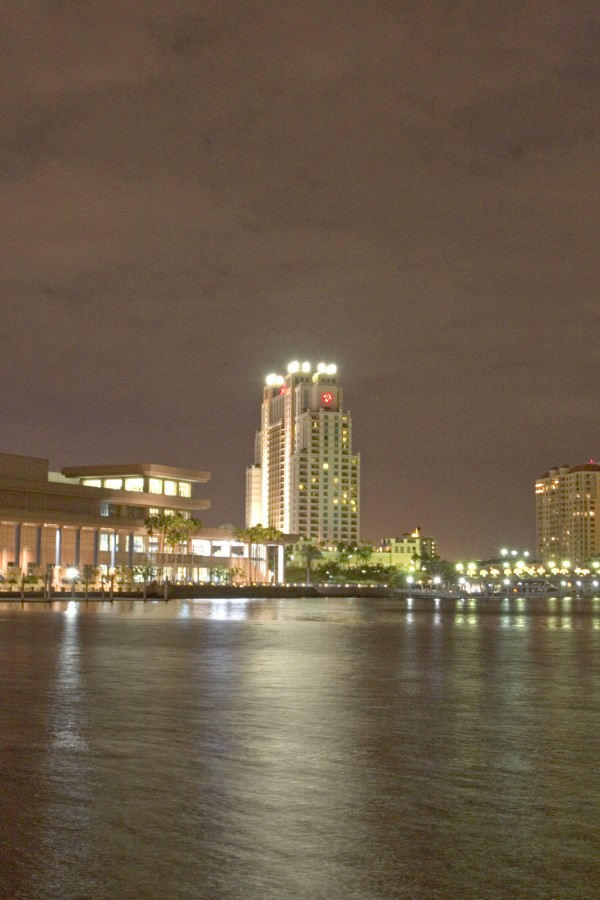Downtown Tampa at night