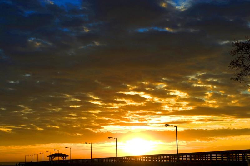 Sun Blast over the pier