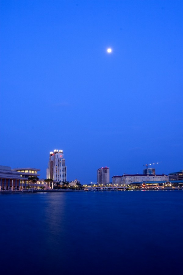 Moon over Tampa