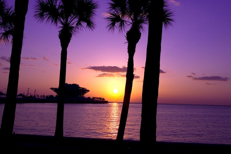 St. Petersburg Pier sunrise