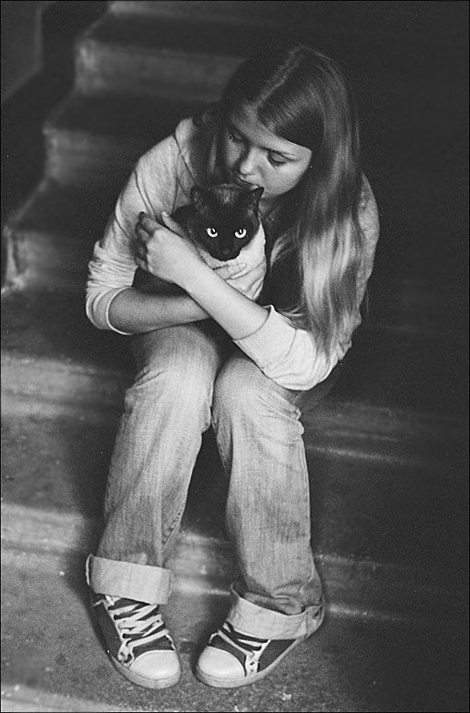 Kitty and a girl.