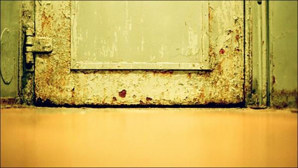 Door in the train.