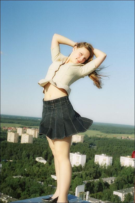 roof girl