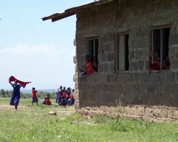 Kenyan children at school.