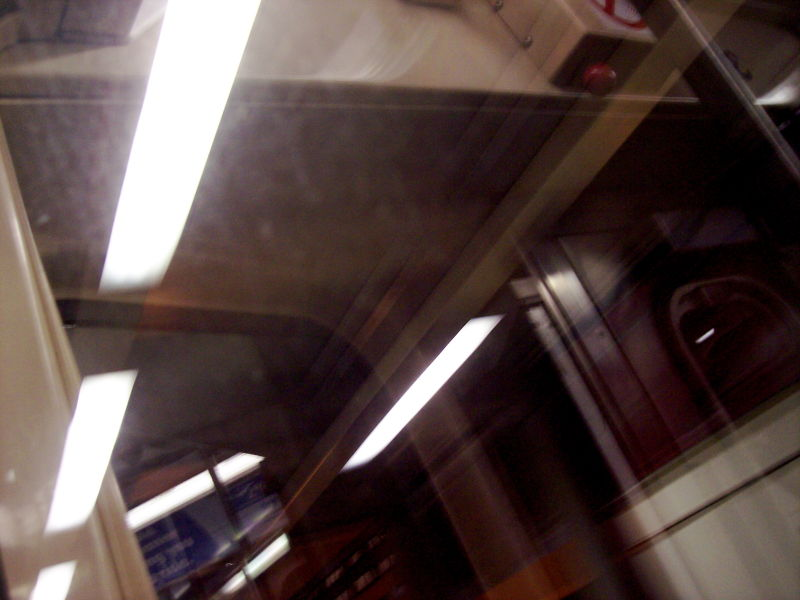 Reflections in the L train windows