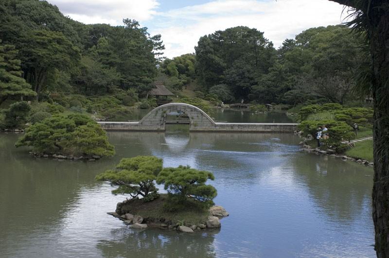 Shukkeien Garden in Hiroshima, Japan.