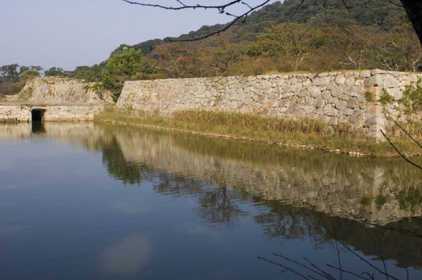 The ruins of Hagi Castle.