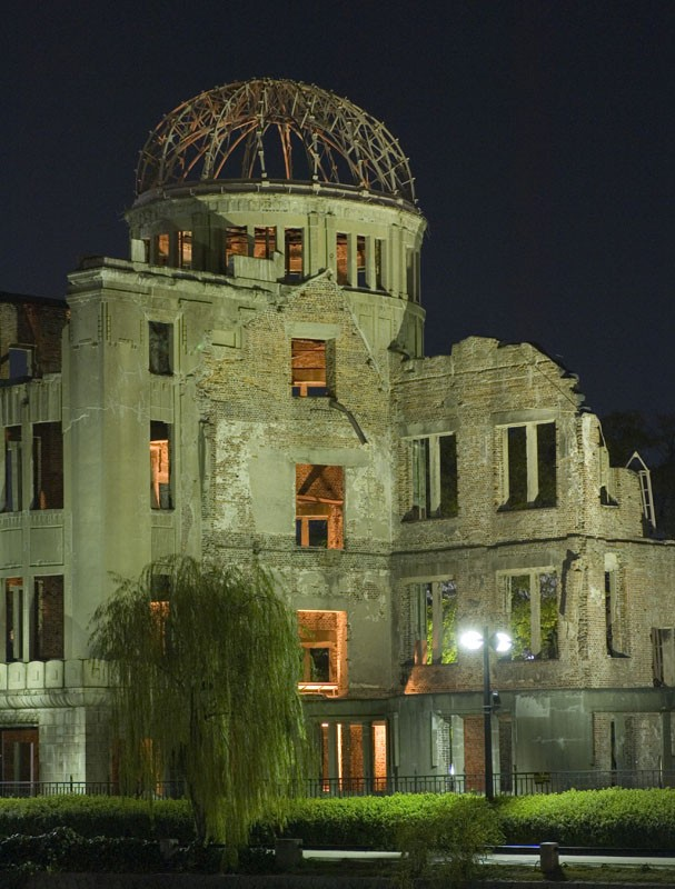 A-bomb Dome at Night.