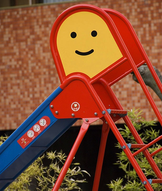 A cute kid's slide.