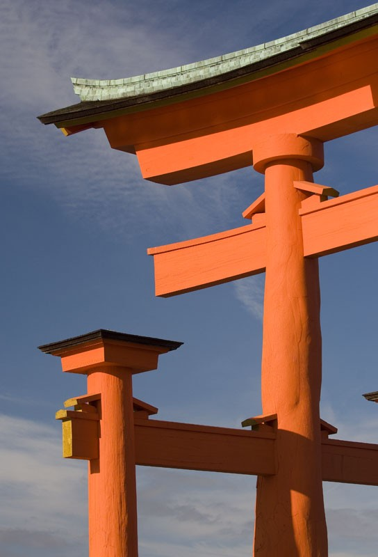 The O-Torii Gate at Itsukushima Shrine.