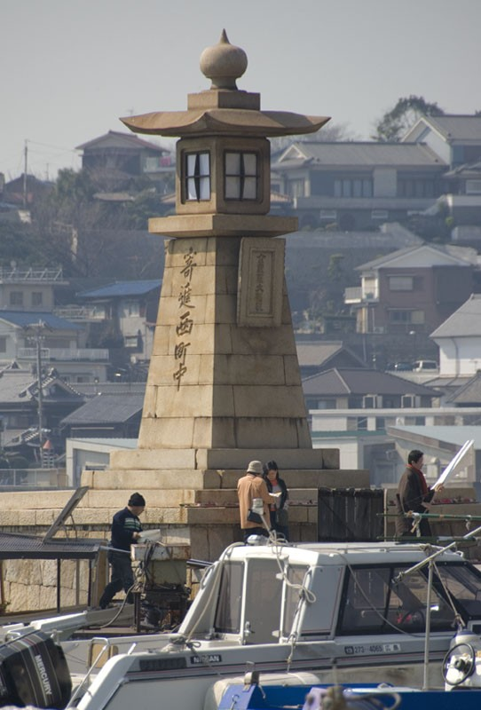 An old stone lighthouse at Tomonoura.