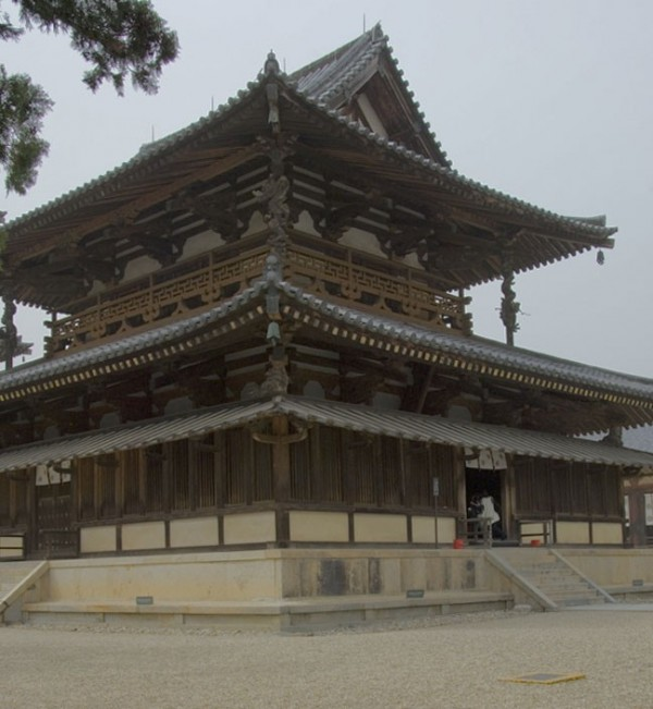 Thw world's oldest wooden temple builging.