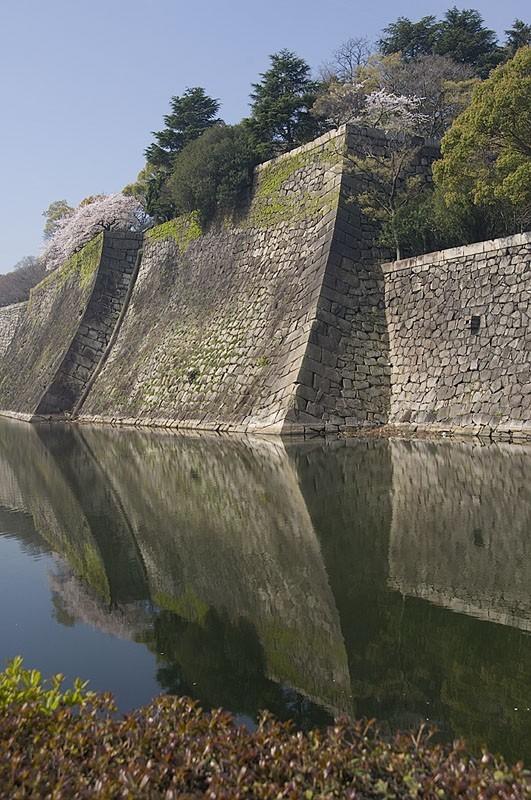 The outer walls of Osaka Jo.