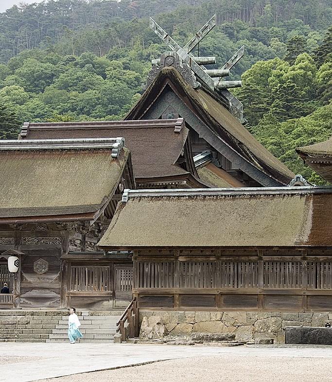 The main shrine at Izumo Taisha.