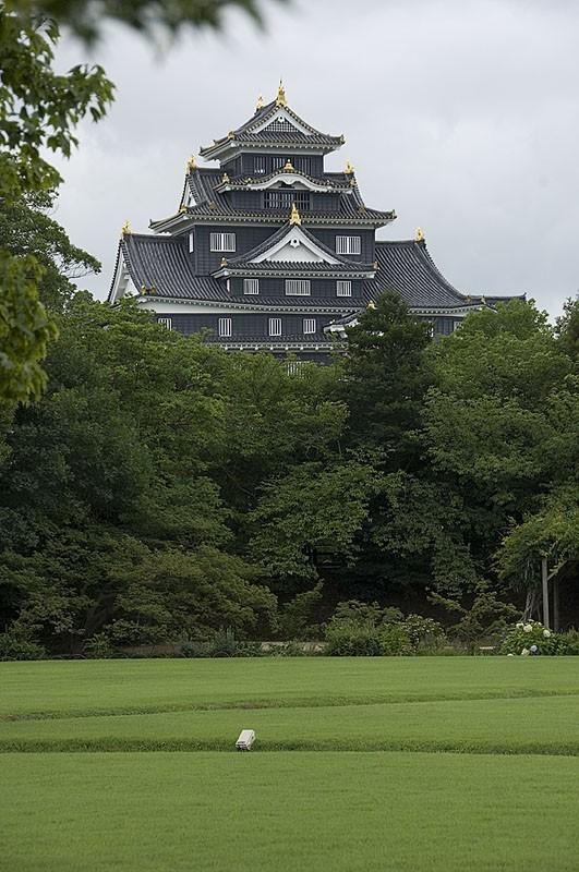 Okayama castle from Koraku-en.