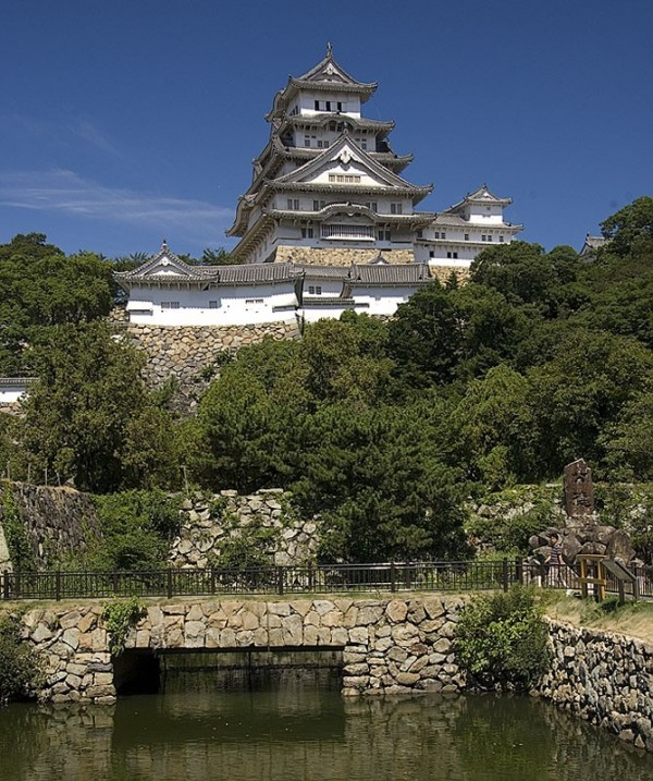 Himeji castle as seen from the East.