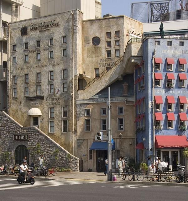 European looking buildings in Kobe.