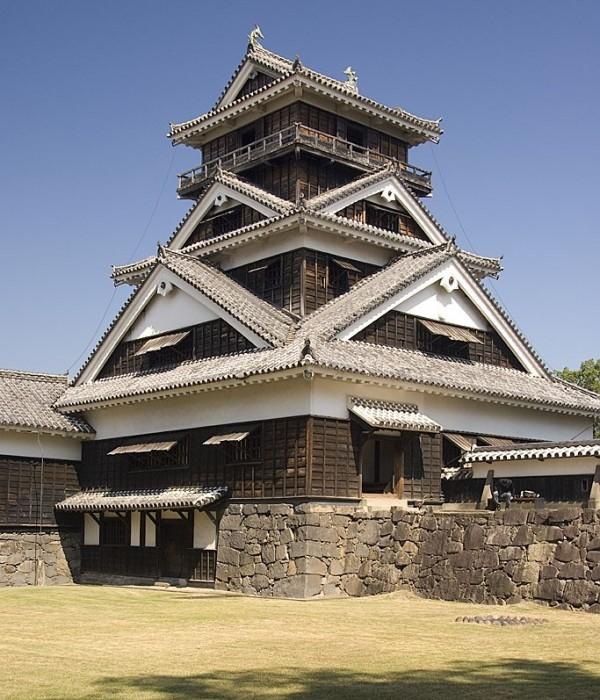 The five storied Uto Turret at Kumamoto Castle.