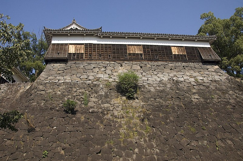 A one story turret at Kumamoto Castle.
