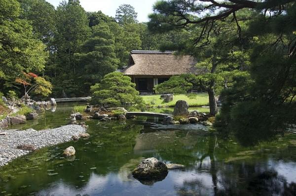 A tea pavillion at Katsura Imperial Villa.