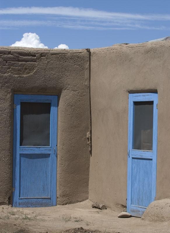 Blue doors at Taos Pueblo.