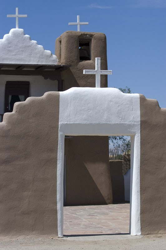 A church at Taos Pueblo.