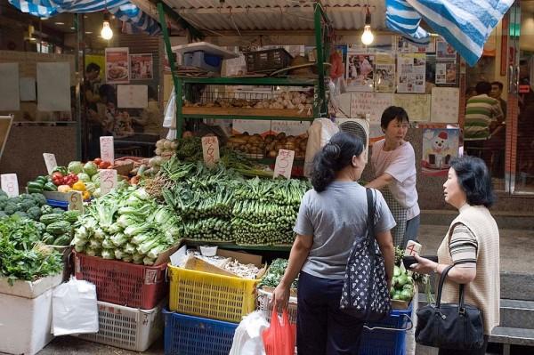 Fresh vegetables, etc. at the Graham ST market.