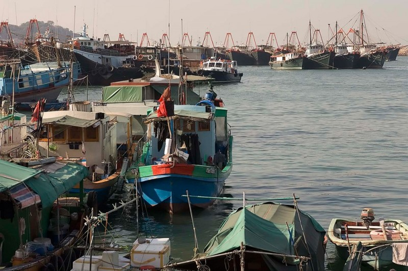 Fishing fleet at Chung Chau harbor.