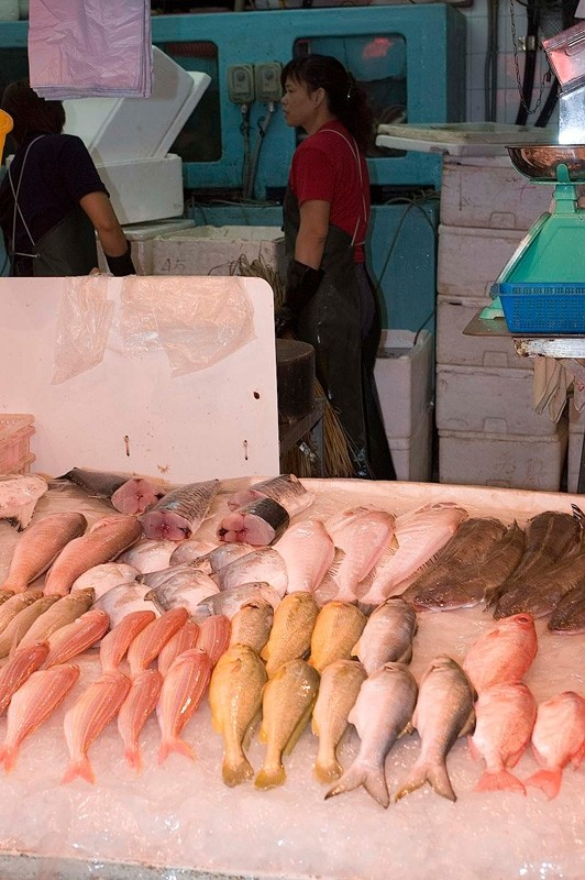 A fish stall at the Graham Street market.